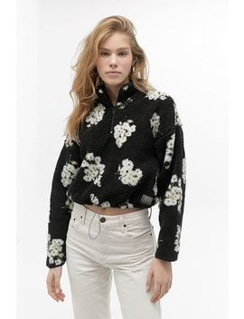 Uo Ditsy Floral Teddy Track Top by Urban Outfitters