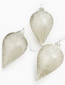 3 Pack Seeded Droplet Baubles by Marks & Spencer