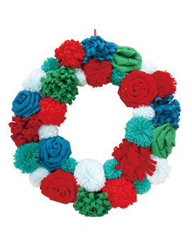 "Pom Pom Wreath, 20""Pom Pom Wreath, 20"" by At Home"