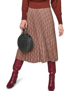 Nadiya Plaid Midi Skirt by Astr The Label
