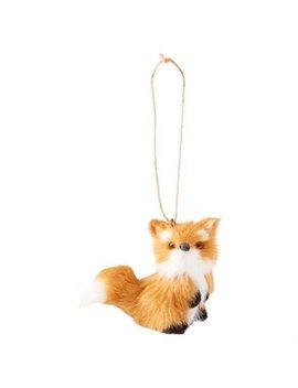 Glitterville® Faux Fur Baby Fox Ornament by Glitterville