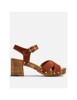 Veronica Leather Clog Sandals by Topshop