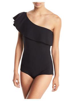 Eli One Shoulder Solid One Piece Swimsuit by Chiara Boni La Petite Robe