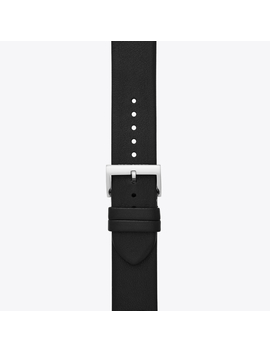 Mcgraw Band For Apple Watch®, Black Leather, 38 Mm – 40 Mm by Tory Burch