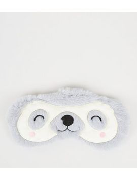 Pale Grey Sloth Eye Mask by New Look