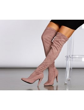 All About The Mauves Thigh High Boots by Windsor