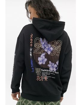 Uo   Sweat à Capuche Style Skate Language Of Flowers by Urban Outfitters