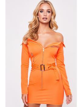 Belted Bardot Dress Belted Bardot Dress by Misspap