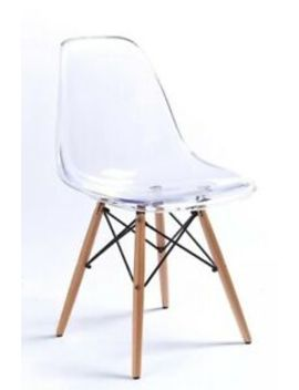 Modern Eiffel Style Ghost Clear Retro Modern Plastic Dining Lounge Chair Elegant by Ebay Seller