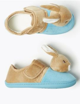 Kids' Peter Rabbit™ Riptape Slippers (5 Small   12 Small) by Marks & Spencer