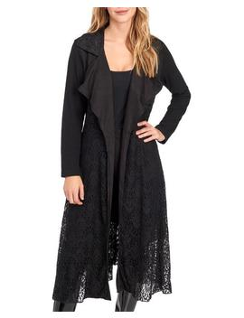 Mixed Lace Long Jacket 						Mixed Lace Long Jacket by Fleur De Lis 						Fleur De Lis