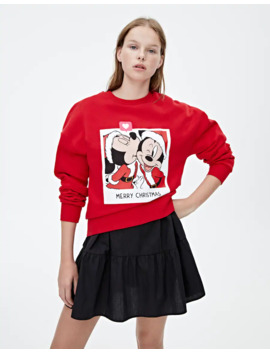 Sudadera Mickey & Minnie Santa by Pull & Bear