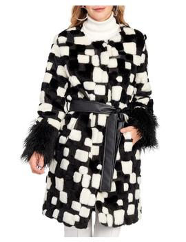 Spotted Faux Fur Coat 						Spotted Faux Fur Coat by Indigo Moon 						Indigo Moon