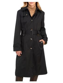 Belted Button Front Trench Coat 						Belted Button Front Trench Coat by London Fog 						London Fog