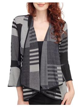 Plaid Front Drape Jacket 						Plaid Front Drape Jacket by Travel Elements 						Travel Elements