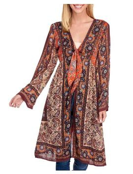 Floral Tie Front Kimono Floral Tie Front Kimono by Angie Angie