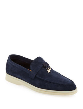 Summer Charms Walk Suede Loafers by Loro Piana