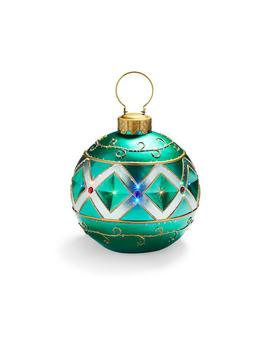 Fiber Optic Led Green Ornament by Frontgate