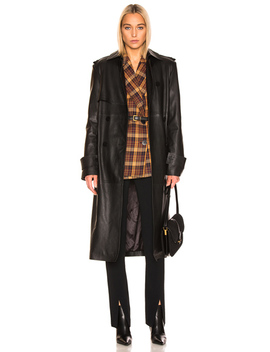 Pirello Leather Trench Coat by Remain