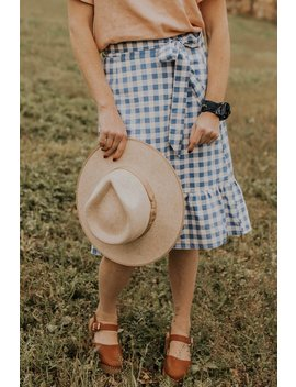 The Lillian Gingham Skirt by Roolee