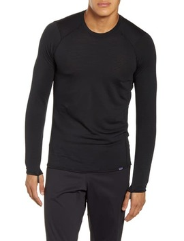 Capilene Recycled Thermal Crewneck Baselayer Shirt In Black by Patagonia