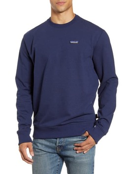 P 6 Label Uprisal Crewneck Sweatshirt In Classic Navy by Patagonia