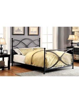 Furniture Of America Aurora Twin Metal Bed In Matte Black by Furniture Of America