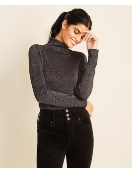 Shimmer Turtleneck Sweater by Ann Taylor