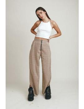 Beige Check Pant by The Ragged Priest
