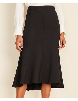 Ponte Fluted Trumpet Skirt by Ann Taylor