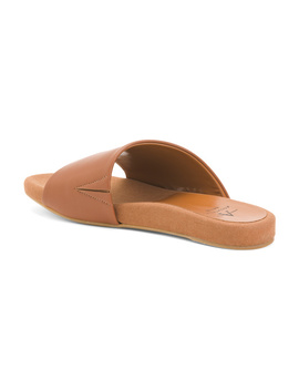 Made In Italy Leather Flat Sandals by Tj Maxx