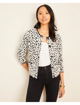 Brushed Leopard Print Cropped Jacket by Ann Taylor