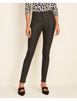 Coated Denim Skinny Jeans by Ann Taylor
