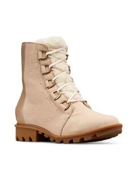 Phoenix Short Lace Shearling Lux Suede Boots by Sorel