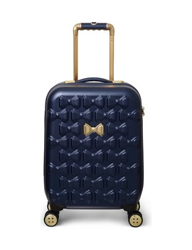 Small Beau 22 Inch Bow Embossed Four Wheel Trolley Suitcase by Ted Baker London