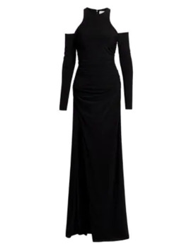 Rosalina Cold Shoulder Jersey Gown by Cinq à Sept