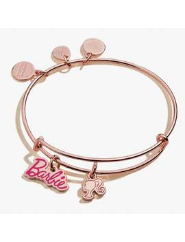 Barbie Duo Charm Bangle Shiny Rose Gold by Alex And Ani