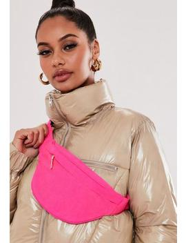 Neon Pink Soft Touch Bumbag by Missguided