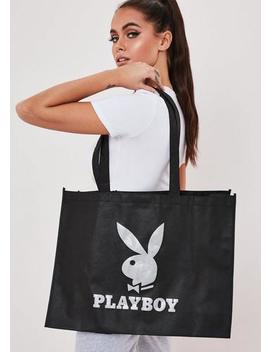 Playboy X Missguided Black Tote Bag by Missguided