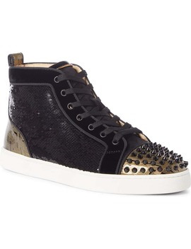 Louis Spikes Orlato High Top Sneaker by Christian Louboutin
