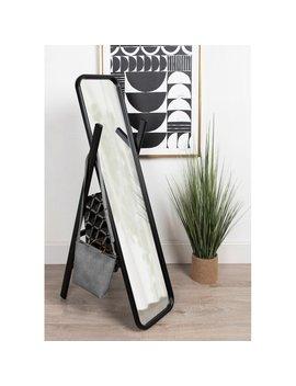 Old Lyme Scandinavian Modern Wooden Standing Ladder Full Length Mirror by Charlton Home