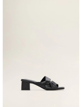 Bow Leather Mules by Mango
