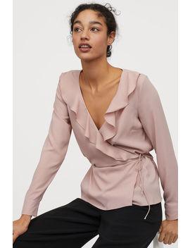 Blusa Traçada Com Folho by H&M