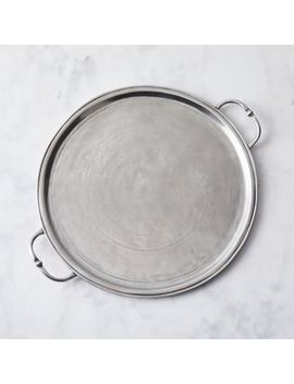 Italian Pewter Round Vienna Tray by Match