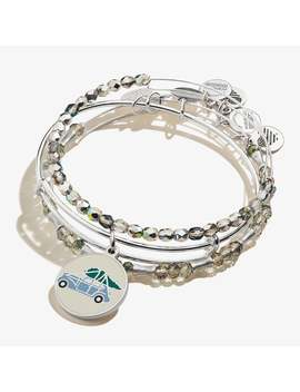 A Christmas Story Charm Bangle Set Of 3 Shiny Silver by Alex And Ani