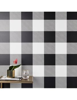Wallshoppe Buffalo Check Removable Wallpaper by West Elm