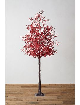 Led Faux Leaf Tree, Red by Anthropologie