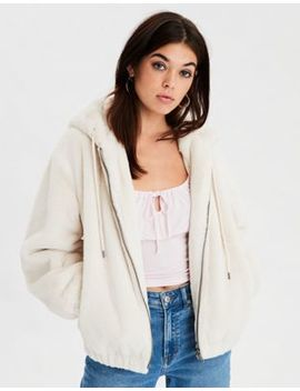 Ae Faux Fur Bomber Jacket by American Eagle Outfitters