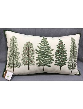 Pottery Barn Forest Tree Indoor/Outdoor Lumbar Pillow by Pottery Barn