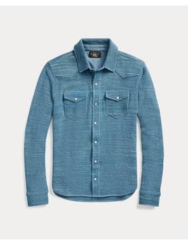 Cotton Western Shirt Sweater by Ralph Lauren